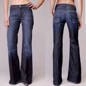 """7 For All Mankind """"Ginger"""" Wide Leg Jeans"""
